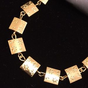NWT gold colored floral bracelet - bundle & save!